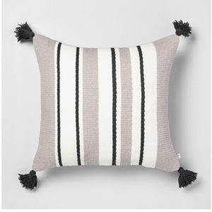 "Hearth & Hand Accents - Hearth & Hand Outdoor Stripe Square Pillow 18"""